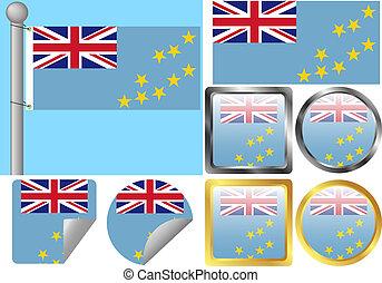 Flag Set Tuvalu