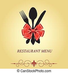 a, conceito, restaurante, menu