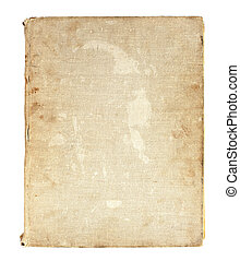 old book in a cloth cover on a white background