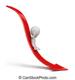 3d person rolling down - 3d person rolls down the red arrow....