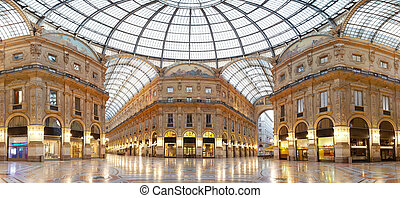 Milan, Vittorio Emanuele gallery - Shopping in Milan,...