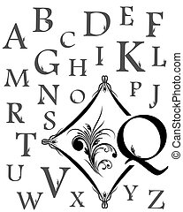 Alphabet of capital letters