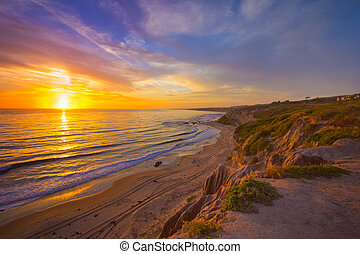 California Coast Sunset