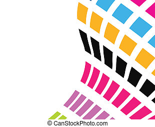 the colorful vector abstract background