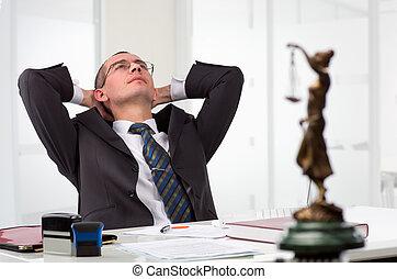 abogado, el suyo, Lugar de trabajo