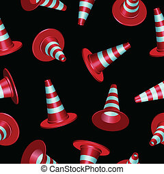 traffic cones pattern - traffic cones with round base...