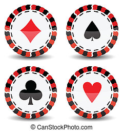 casino chips against white background, abstract vector art...