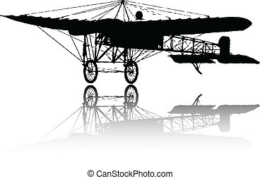 the vector old plane silhouette