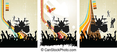 the abstract vector music retro background