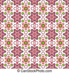 Seamless Medallion Background - Ornate kaleidoscope motifs...