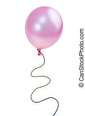 Pink balloon isolated