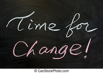 Time for change - Chalk drawing - Time for change