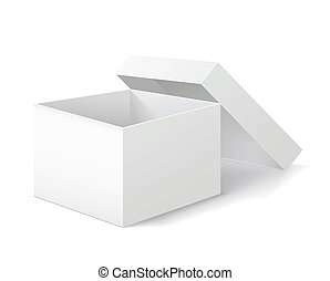 Packing box on white background.