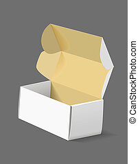 Packing box on grey background.