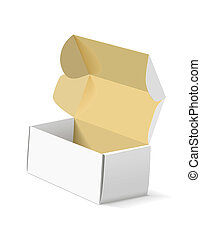 Packing box on white background. - The carton on white...