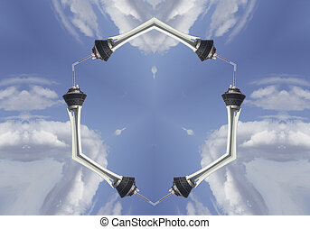 Strato Tower at Las Vegas - Kaleidoscope image of the strato...