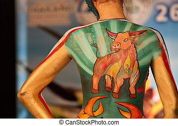 samui body painting - Samui Thailand international body...