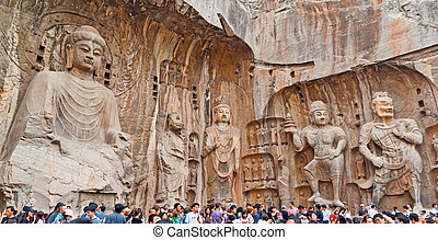 The Big Vairocana and Boddhisatvas in main Longmen Buddha...