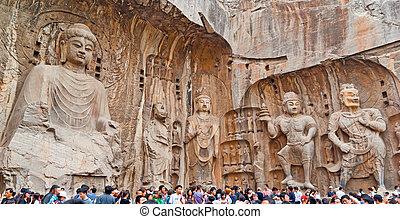 The Big Vairocana and Boddhisatvas in main Longmen Buddha...