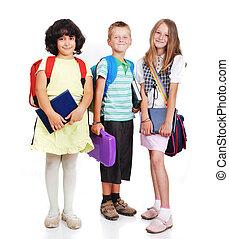 escuela, niños, aislado