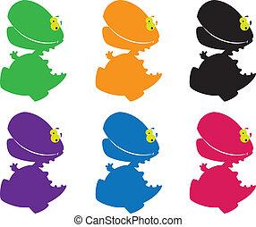 dino massive color - illustration of a dino massive color