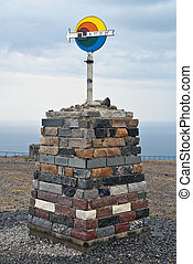 North Cape sign. Norway.