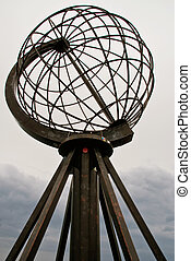 North Cape Globe Monument. Norway.