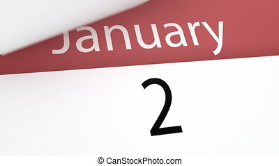 Calendar (year), 3d animation