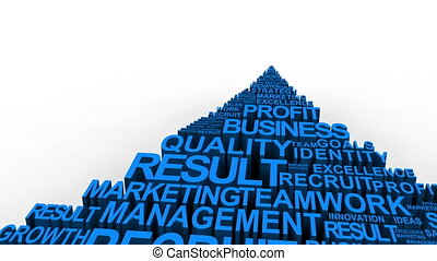 Business related terms - Blue business related terms forming...