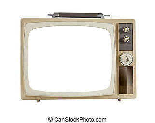 Vintage 1960's Portable Television with Cut Out Screen -...