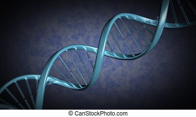 A strand of DNA rotates