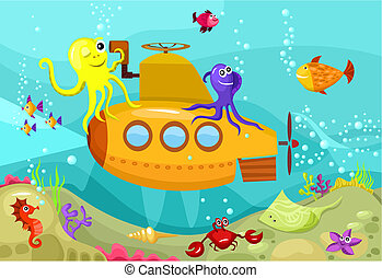submarine - vector illustration of a submarine