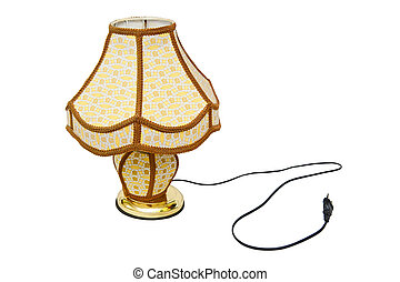 Lamp with shade isolated on the white background