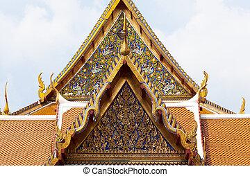 Thai temple gate. Art has a unique design that is national...