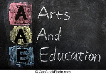 aae, siglas, artes, educación