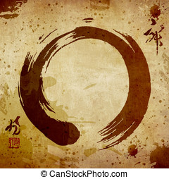 Zen circle vintage background - Zen circle in vintage colors...