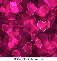 Hot Pink Heart Background Wallpaper - Bright pink hearts in...