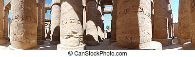 columns of stone in temple