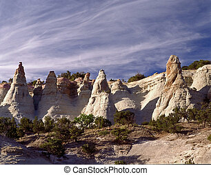 Kasha-Katuwe Tent Rocks NM - Weathered sandstone make this...