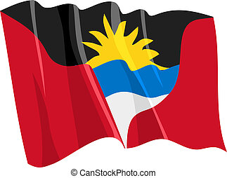 flag of Antigua and Barbuda - Political waving flag of...