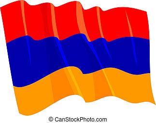 Political waving flag of Armenia