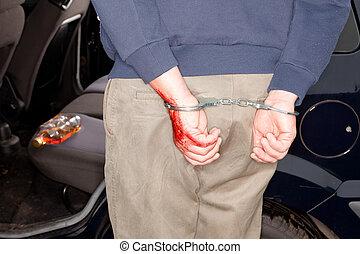 Arrested for drunken driving