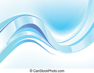 Stylish abstract wave flow