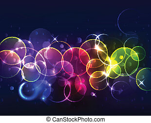 Sparkly de-focused background - Sparkly Blurred Abstract...