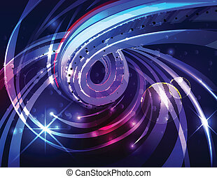 Abstract energy flow background