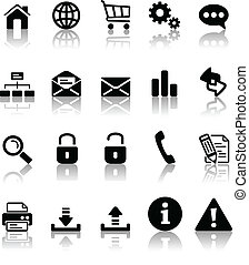 black icon set - Black icon set for your website