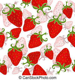 Seamless floral pattern (vector) - Seamless white floral...