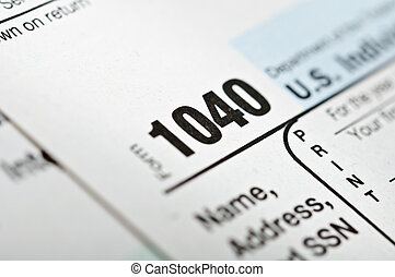 Tax form 1040. - Tax forms 1040. U.S Individual Income Tax...