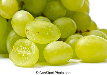 Grapes - White grape  isolated on the white background