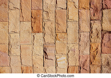 Brick walls are made of sandstone.